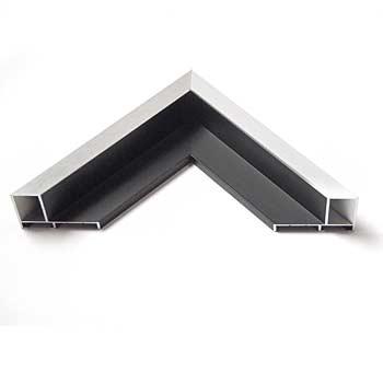 alu schattenfugenrahmen zweifarbig hochwertiger nielsen schattenfugenrahmen in der farbe silber. Black Bedroom Furniture Sets. Home Design Ideas